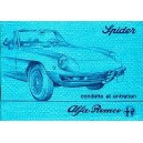 notice d entretien Alfa Spider 1981