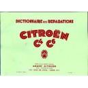 Dictionnaire de Réparation Citroen C4.C6