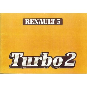 Notice d entretien R5 Turbo 2 (reproduction)