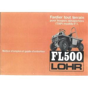 Notice d' entretien Lohr FL 500