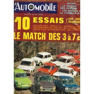 l' Automobile numéro 261 au numéro 354